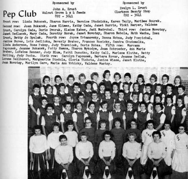 pep club 1960-61