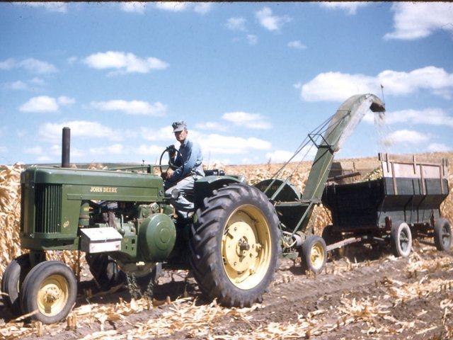 Cutting Silage Aug 1956