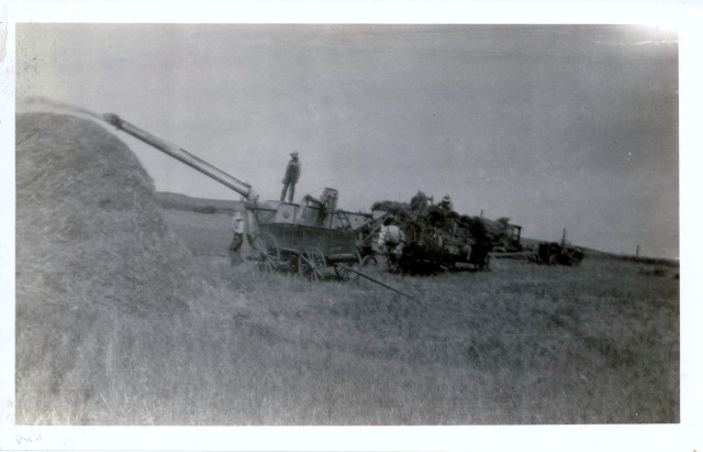 Threshing Grain