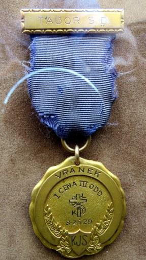 Frank Houfek Sokol Medal