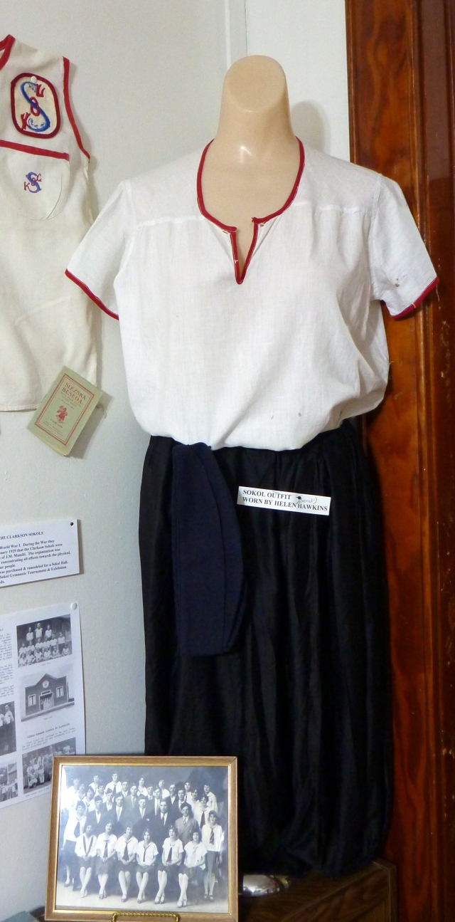 Helen Dvorak Hawkins Sokol uniform
