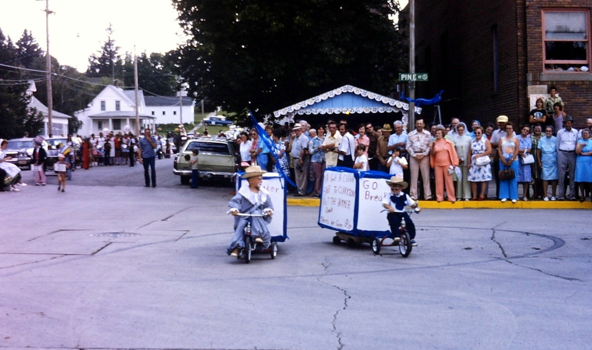 Many of the neighboring towns and villages entered the parade to help ...