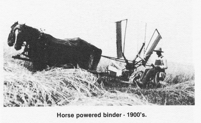 Horse powered binder