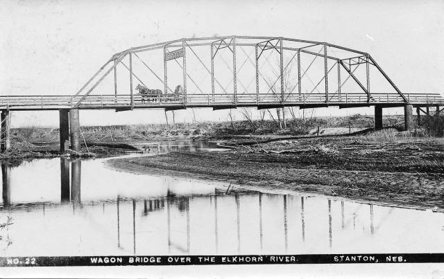 Elkhorn River Bridge in Stanton ca 1914