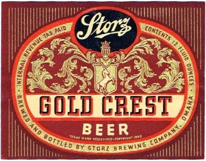 Storz Gold Crest beer label