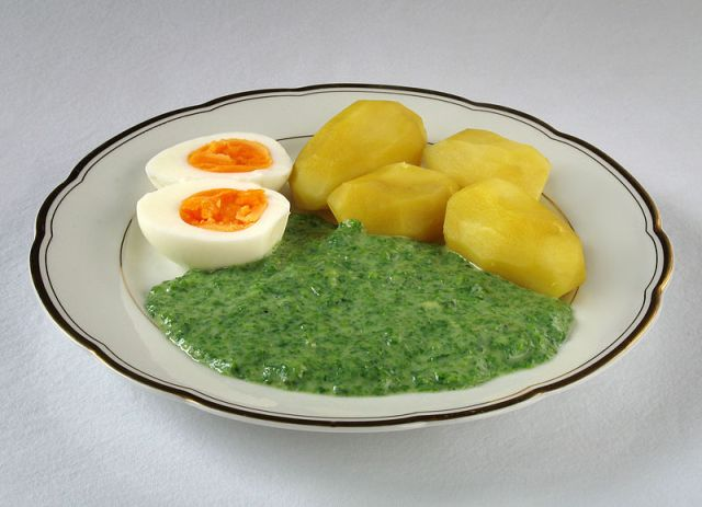 nettles and potatoes