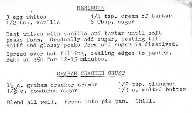 Phyllis' Meringue Recipe