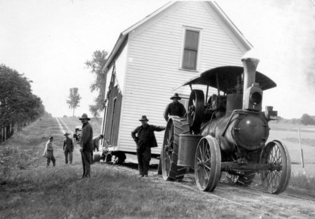 46B Emil Sobota moving Pollard house 1917