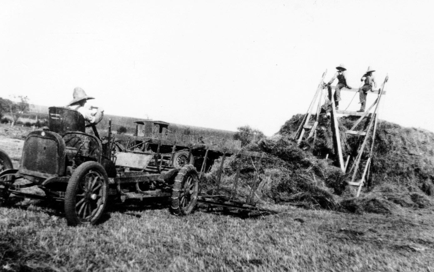 64-19 Emil, Joseph J and Stanley Sobota on hay sweep