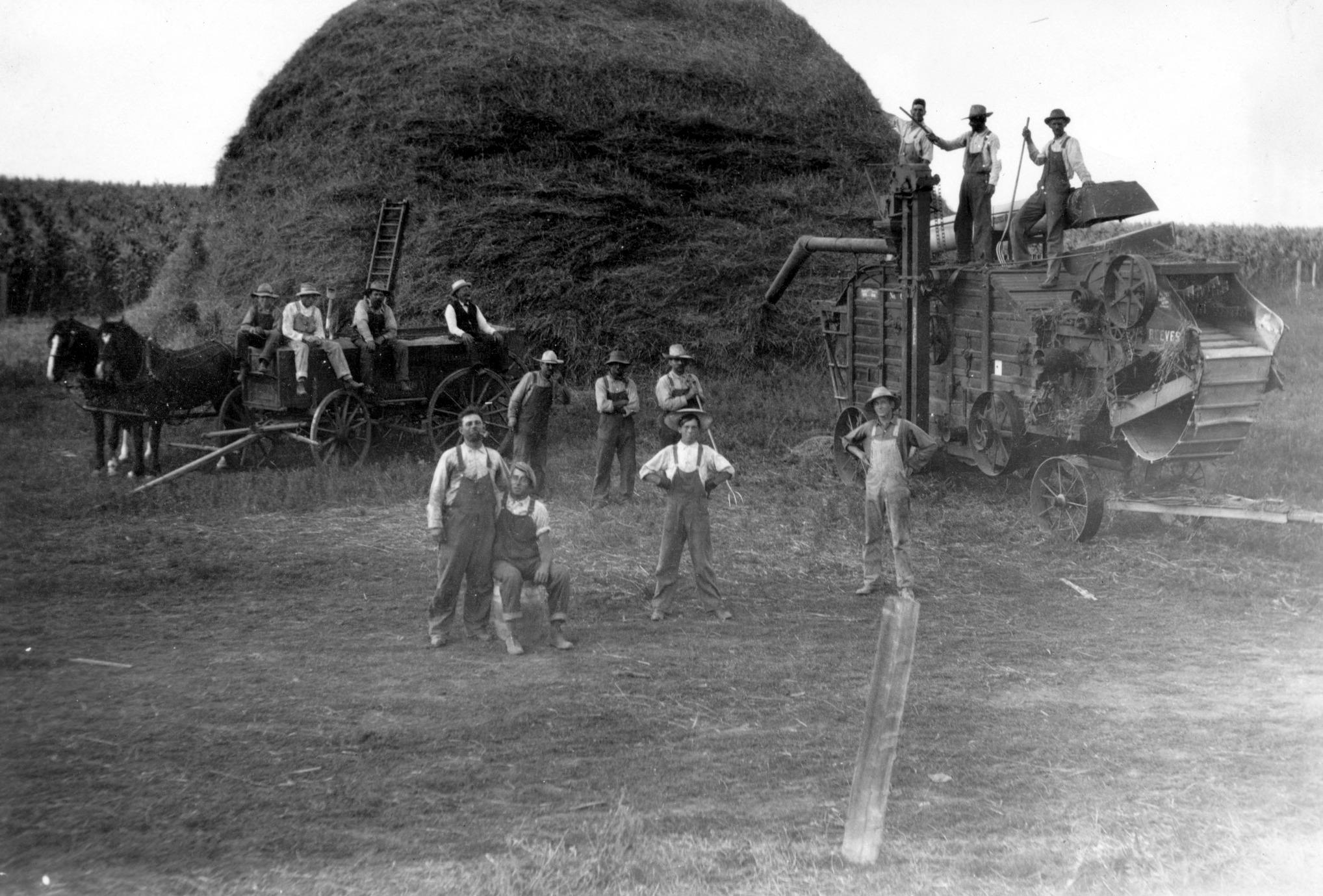 Threshing at Anton E Brichacek's 1916 46B